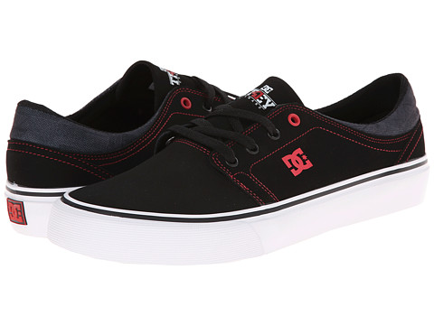 DC - Trase TC (Black/Athletic Red) Men's Skate Shoes