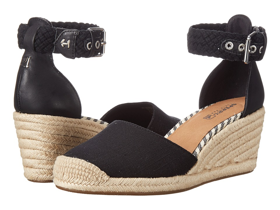 Sperry Top-Sider - Valencia Canvas (Black) Women's Wedge Shoes