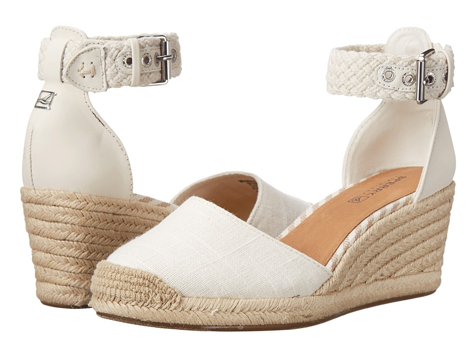Sperry - Valencia Canvas (Ivory) Women's Wedge Shoes