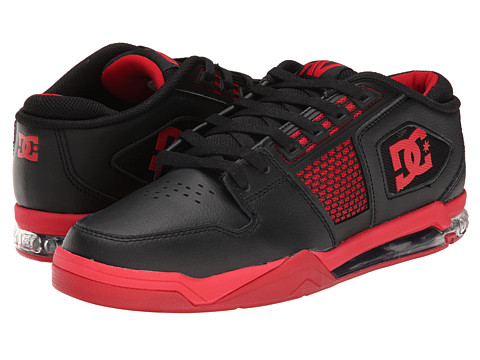 DC - Ryan Villopoto (Black/Red/Red) Men's Skate Shoes