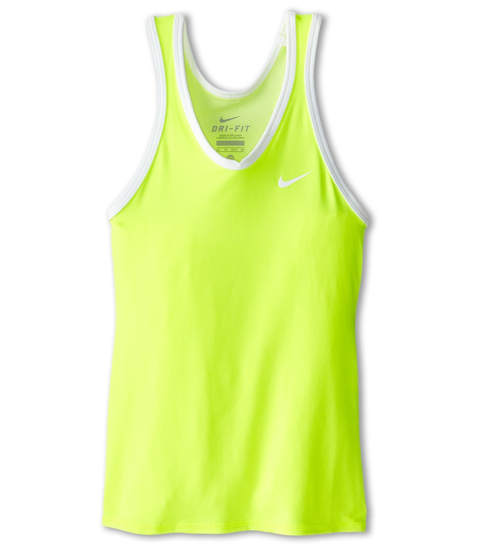 Nike Kids - Advantage Power Girls' Tennis Tank Top (Volt/Volt/White/White) Girl's Sleeveless