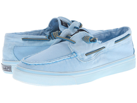 Sperry Top-Sider - Bahama 2-Eye Washed (Light Blue) Women's Lace up casual Shoes
