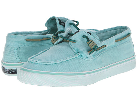 Sperry Top-Sider - Bahama 2-Eye Washed (Mint) Women's Lace up casual Shoes