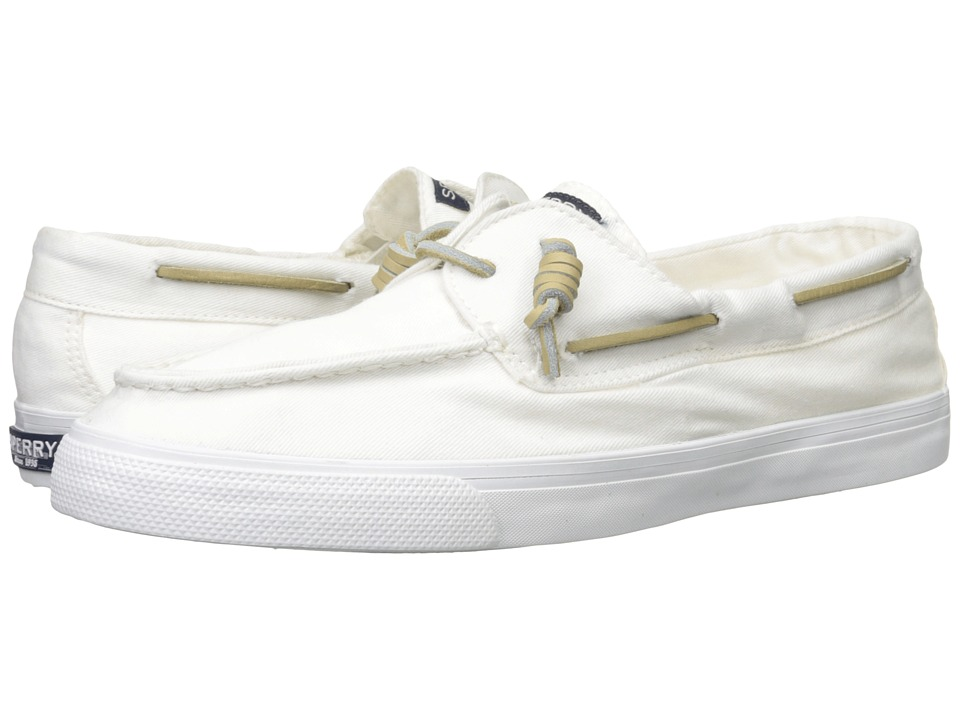 Sperry - Bahama 2-Eye Washed (White) Women's Lace up casual Shoes