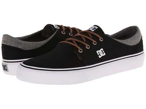 DC - Trase TX SE (Black/Grey/Black) Skate Shoes