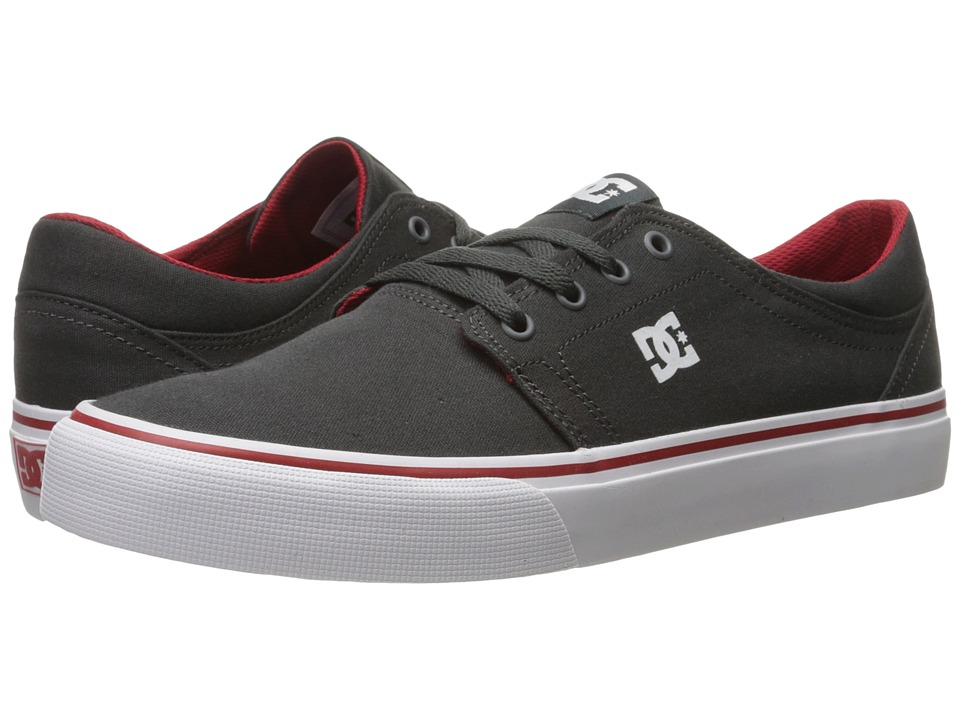 DC - Trase TX (Dark Shadow/White/Athletic Red) Skate Shoes