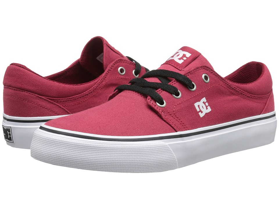 DC Trase TX (Dark Red) Skate Shoes