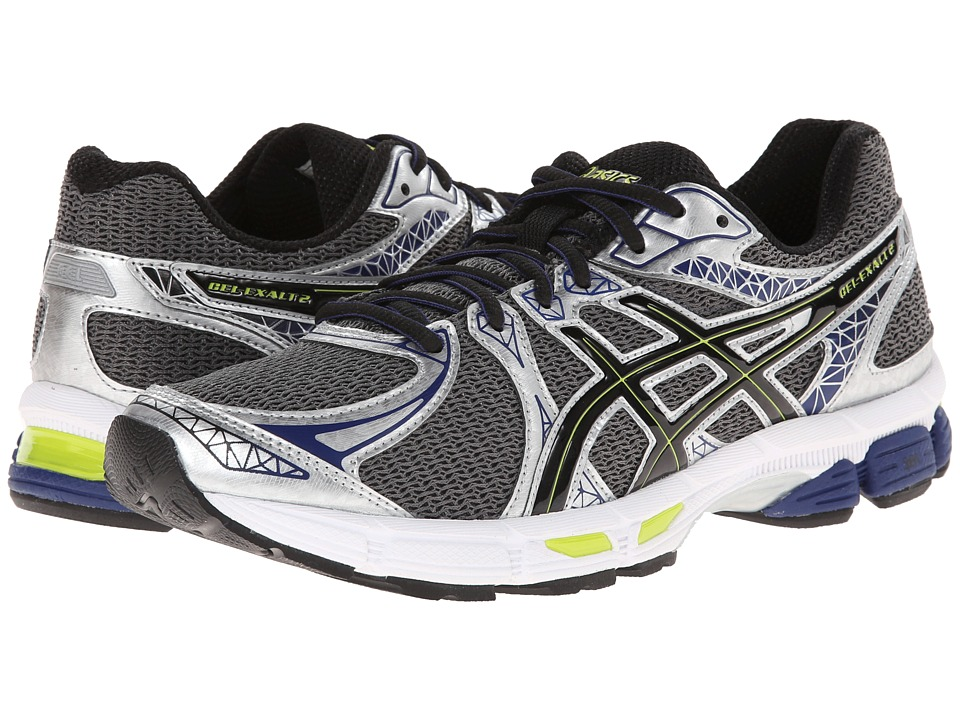 ASICS - GEL-Exalt 2 (Charcoal/Black/Lime) Men's Running Shoes
