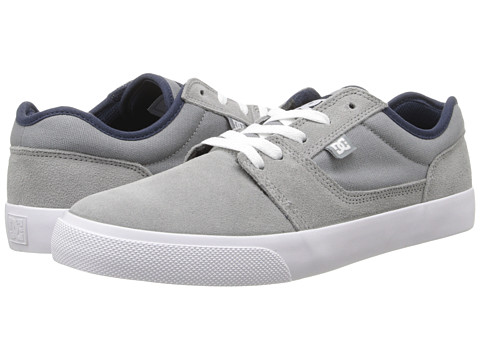 DC - Tonik (Grey/White) Men's Skate Shoes