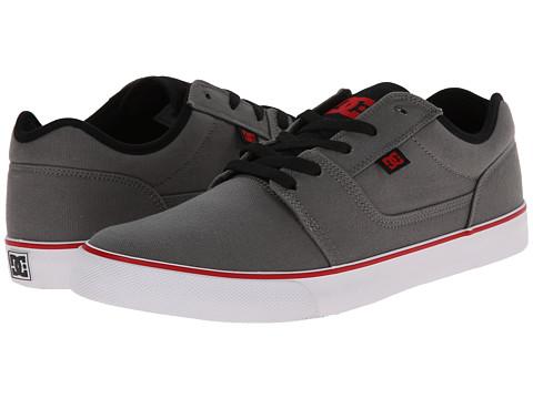 DC - Tonik TX (Grey/Black/Red) Men's Skate Shoes
