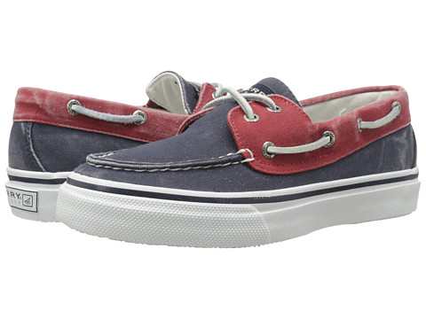 Sperry Top-Sider - Bahama 2-Eye (Navy/Red) Men's Slip on Shoes