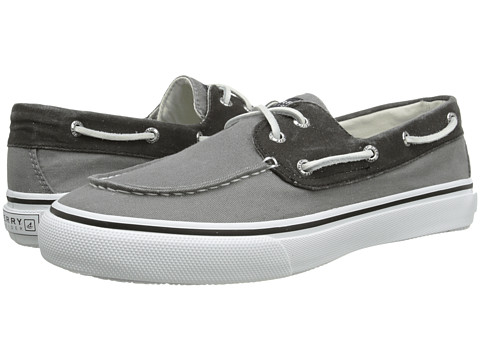 Sperry Top-Sider - Bahama 2-Eye (Grey/Black) Men's Slip on Shoes