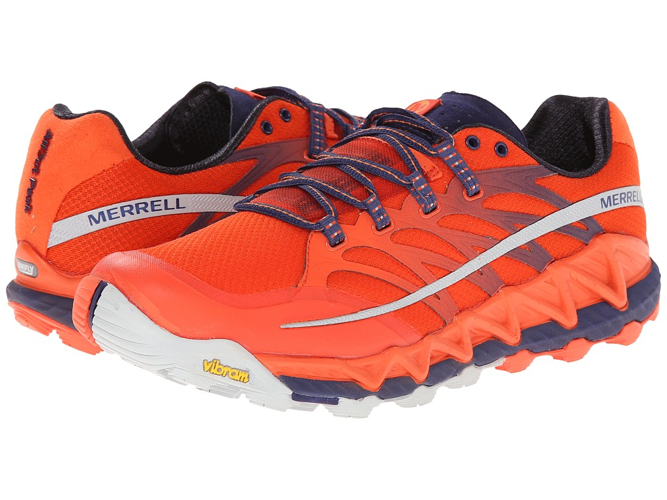 Merrell - All Out Peak (Spicy Orange/Astral Aura) Men's Shoes