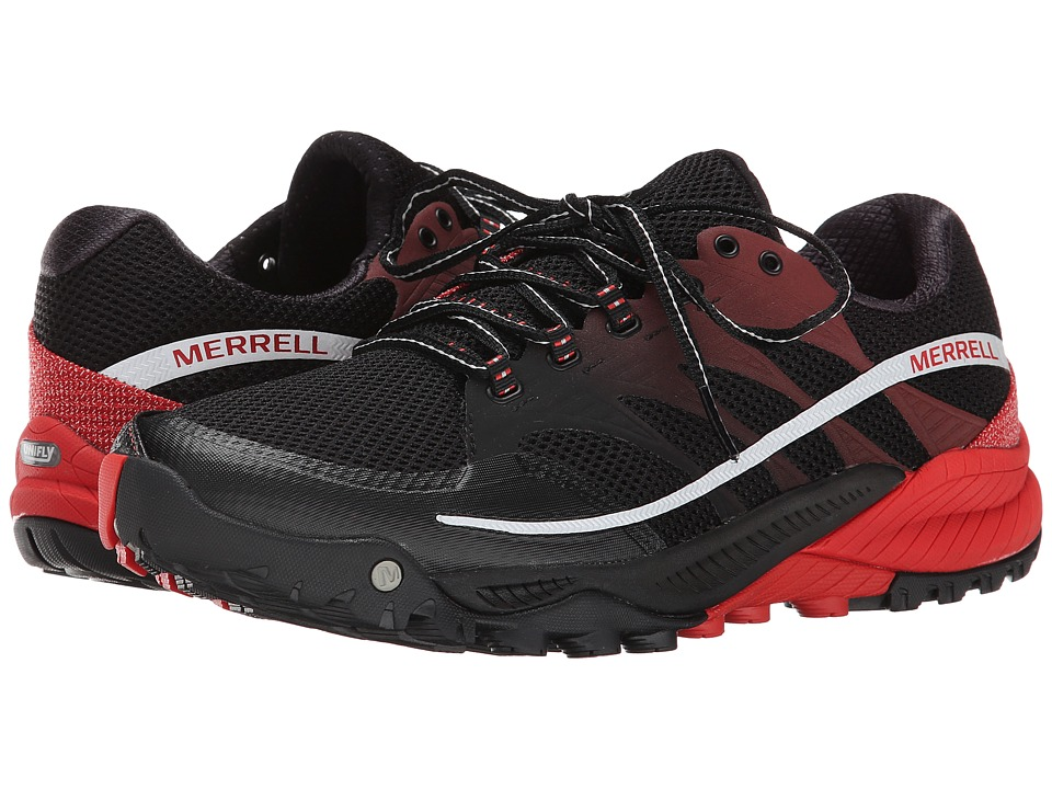 Merrell - All Out Charge (Black/Molten Lava) Men's Shoes