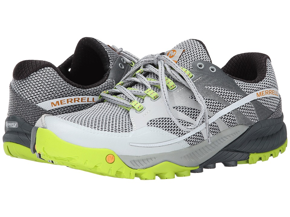 Merrell - All Out Charge (Grey/Lime Green) Men's Shoes