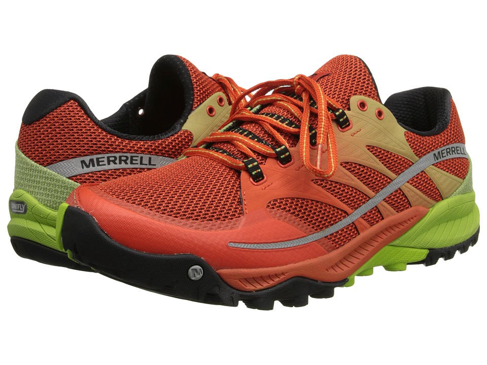 Merrell - All Out Charge (Spicy Orange/Lime Green) Men's Shoes