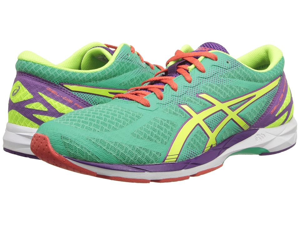 ASICS - GEL-DS Racer 10 (Mint/Flash Yellow/Purple) Women's Running Shoes