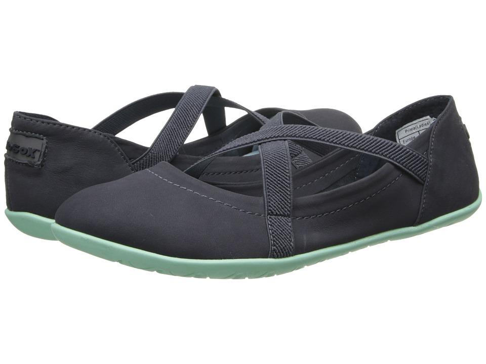 NoSoX - Prima (Charcoal/Mint Nubuck) Women's Slip on Shoes