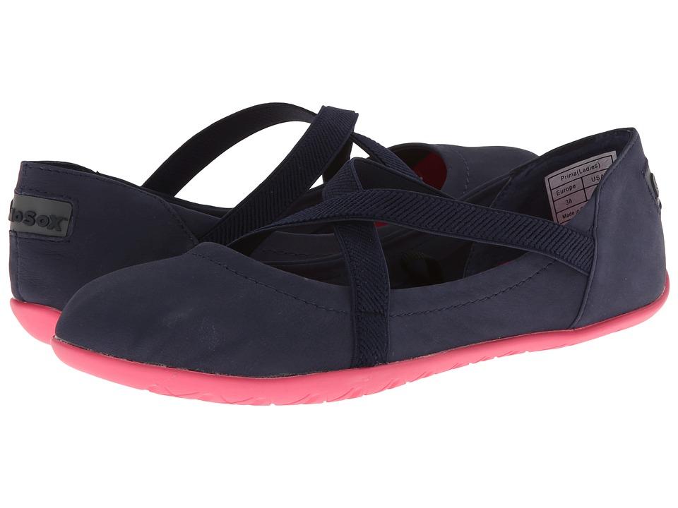 NoSoX - Prima (Navy/Pink Nubuck) Women's Slip on Shoes