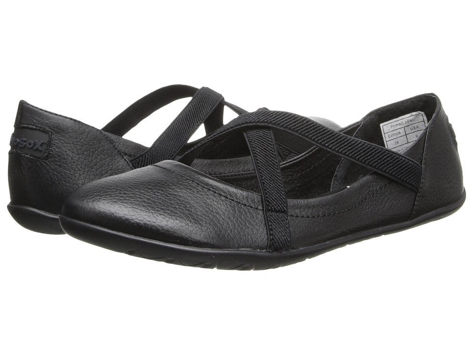 NoSoX - Prima (Black Tumbled Leather) Women's Slip on Shoes