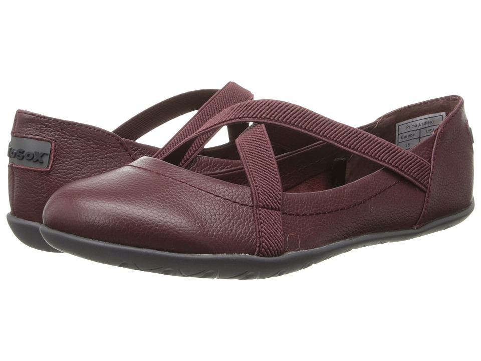 NoSoX - Prima (Raisin Tumbled Leather) Women's Slip on Shoes