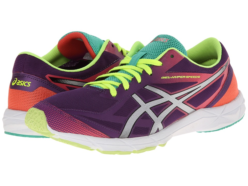 ASICS - GEL-Hyper Speed 6 (Purple/Silver/Hot Coral) Women's Running Shoes