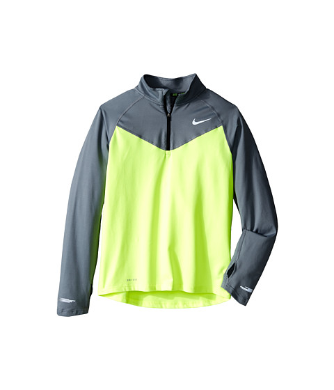 Nike Kids - Element 1/2 Zip L/S Top (Little Kids/Big Kids) (Volt/Cool Grey/Black) Boy