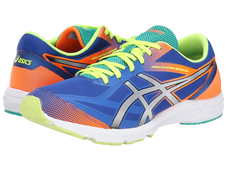 ASICS - Gel-Hyper Speed 6 (Blue/Silver/Flash Orange) Men's Running Shoes
