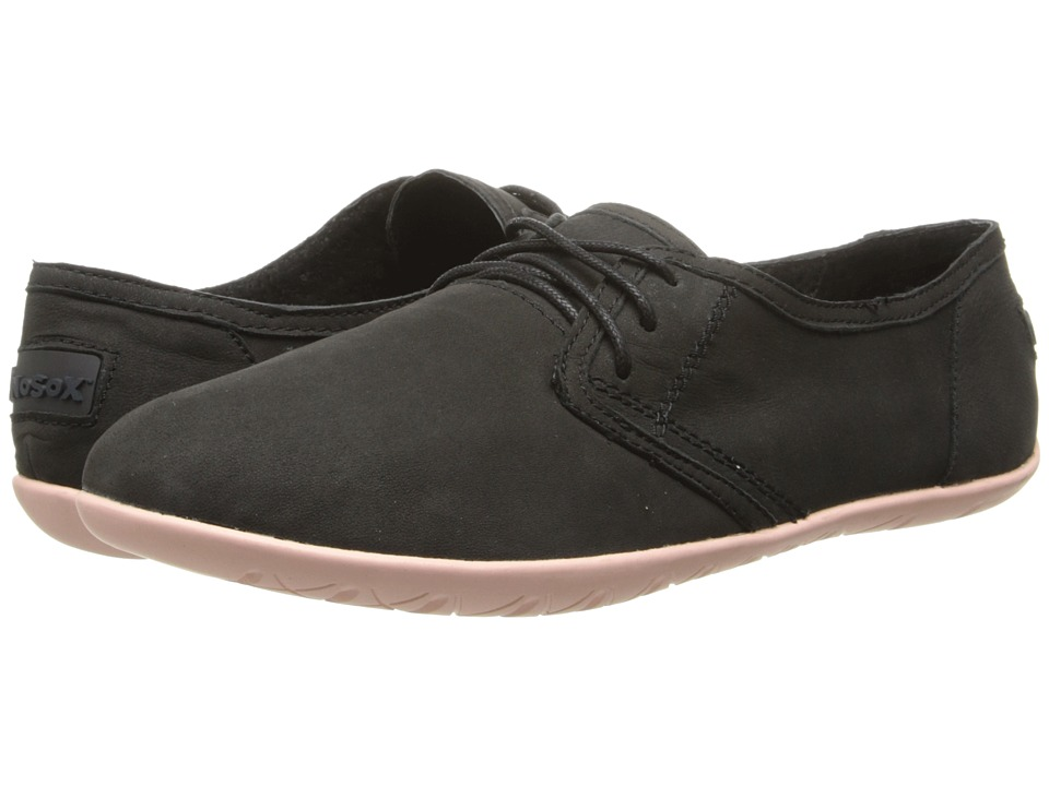 NoSoX - Barre (Black/Blush Nubuck) Women's Lace up casual Shoes