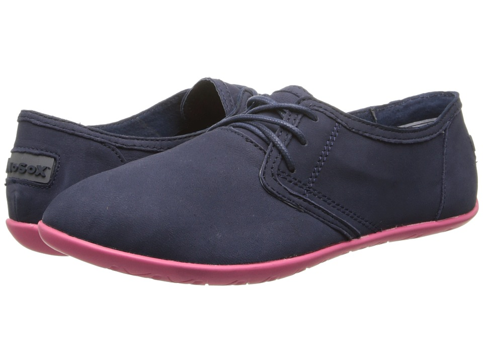 NoSoX - Barre (Navy/Pink Nubuck) Women's Lace up casual Shoes