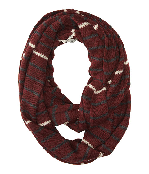 Michael Stars - Popped Stripe Eternity Scarf (Garnet) Scarves