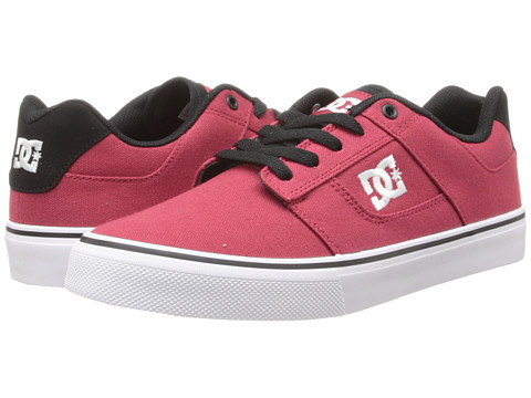 DC - Bridge TX (Red/White/Black) Men's Skate Shoes