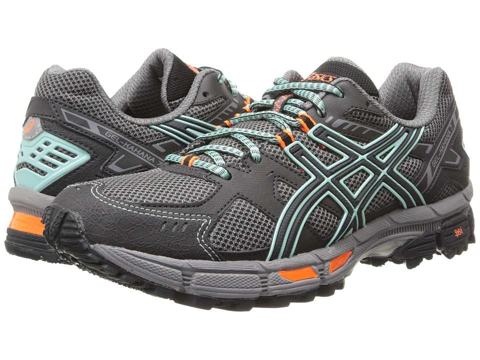 ASICS - Gel-Kahana 7 (Onyx/Beach Glass/Flash Coral) Women's Running Shoes