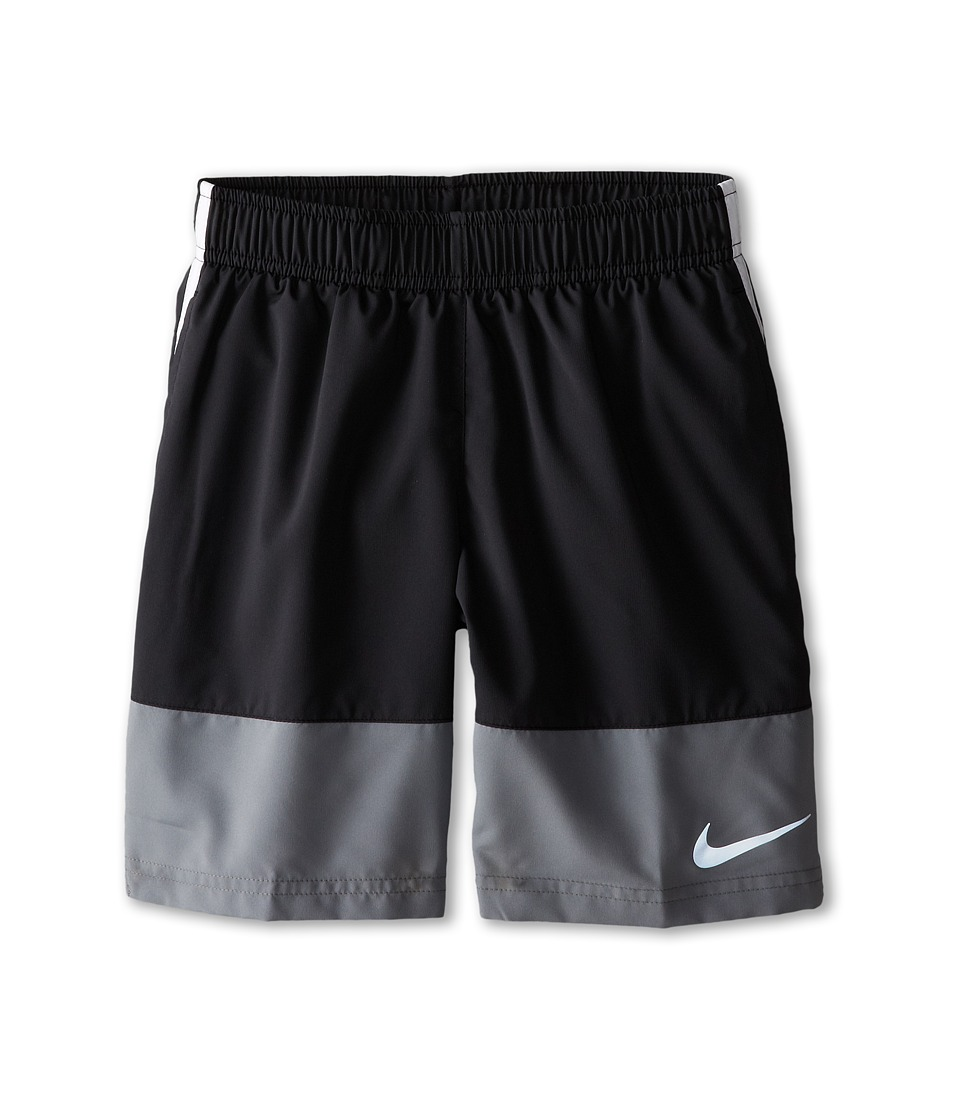 Nike Kids - YA Distance Short (Little Kids/Big Kids) (Black/Cool Grey/White/Reflective Silver) Boy's Shorts
