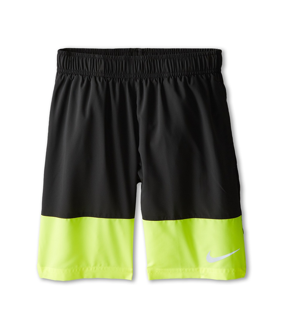Nike Kids - YA Distance Short (Little Kids/Big Kids) (Anthracite/Volt/Black/Reflective Silver) Boy