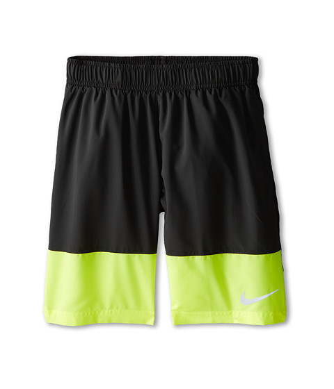 Nike Kids - YA Distance Short (Little Kids/Big Kids) (Anthracite/Volt/Black/Reflective Silver) Boy's Shorts