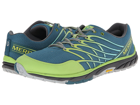 Merrell - Bare Access Trail (Sea Blue/Lime Green) Men's Running Shoes