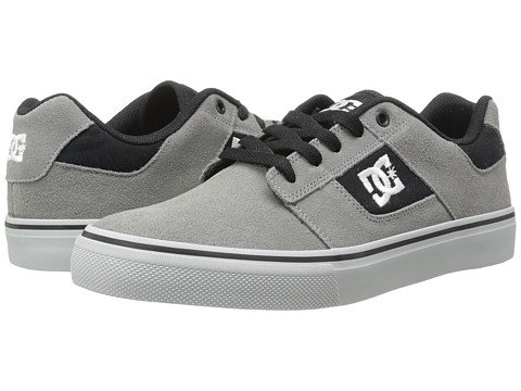 DC - Bridge (Grey/Grey/Black) Men's Skate Shoes