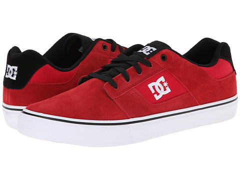 DC - Bridge (Black/Red/Red) Men's Skate Shoes
