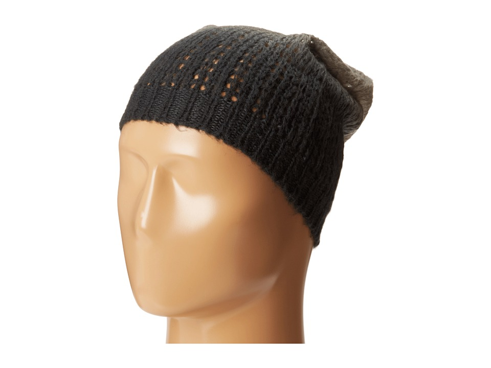 Michael Stars - Laced Knit Ombre Slouch Hat (Black) Knit Hats