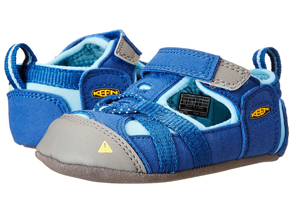 Keen Kids - Seacamp Crib (Infant) (True Blue/Blue Grotto) Kid's Shoes