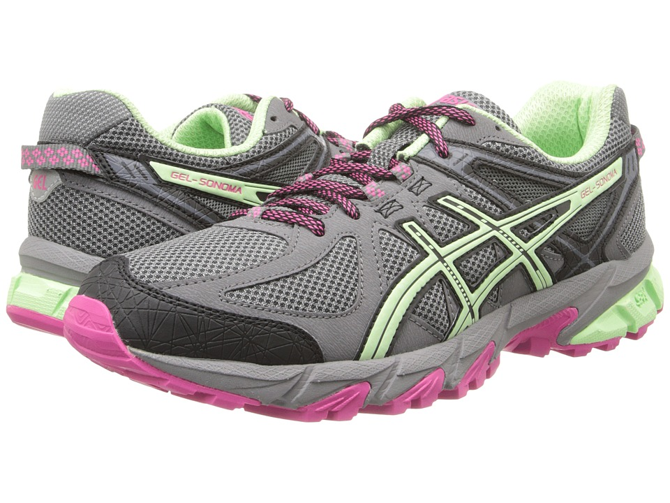 ASICS - Gel-Sonoma (Charcoal/Mint/Hot Pink) Women's Running Shoes