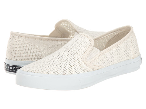 Sperry Top-Sider - Seaside Open Mesh (Ivory) Women's Slip on Shoes