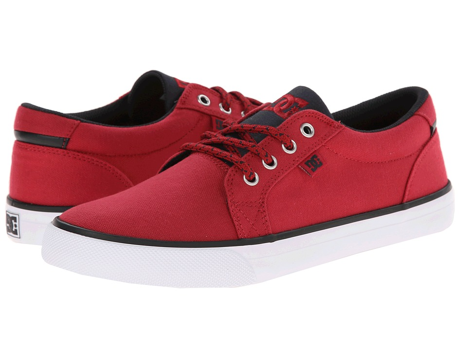 DC - Council TX (Red/Black/White) Men's Skate Shoes