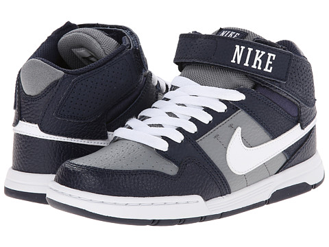 Nike SB Kids - Mogan Mid 2 Jr (Little Kid/Big Kid) (Cool Grey/White) Boys Shoes