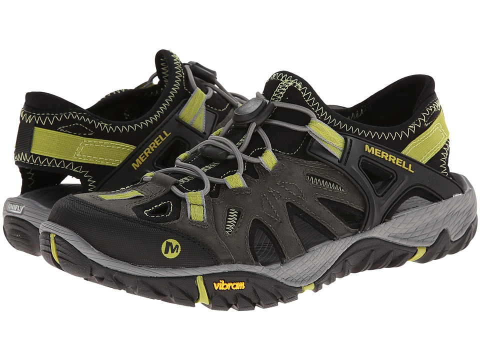 Merrell - All Out Blaze Sieve (Castle Rock/Green Oasis) Men's Shoes