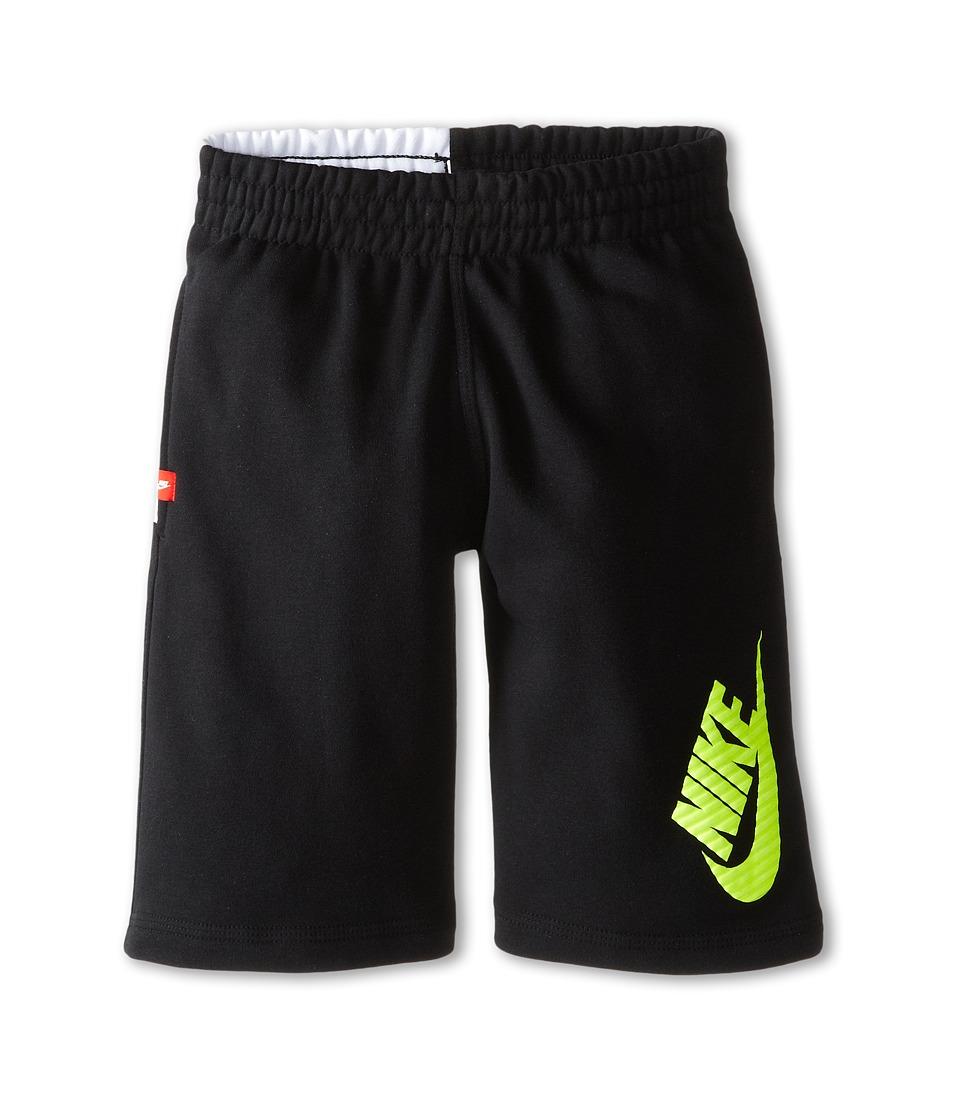 Nike Kids - N45 HBR FT Short (Little Kids/Big Kids) (Black/White/White) Boy's Shorts