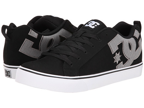 DC - Court Vulc SE (Black/Grey/Black) Men's Skate Shoes
