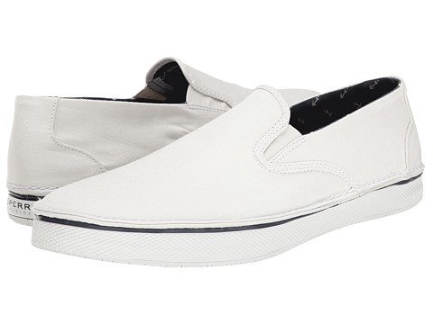 Sperry Top-Sider - Cruz S/O SW Canvas (White) Men's Slip on Shoes