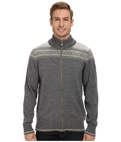 Dale of Norway - Hemsedal Masculine Jacket (Smoke/Light Charcoal) Men's Sweater